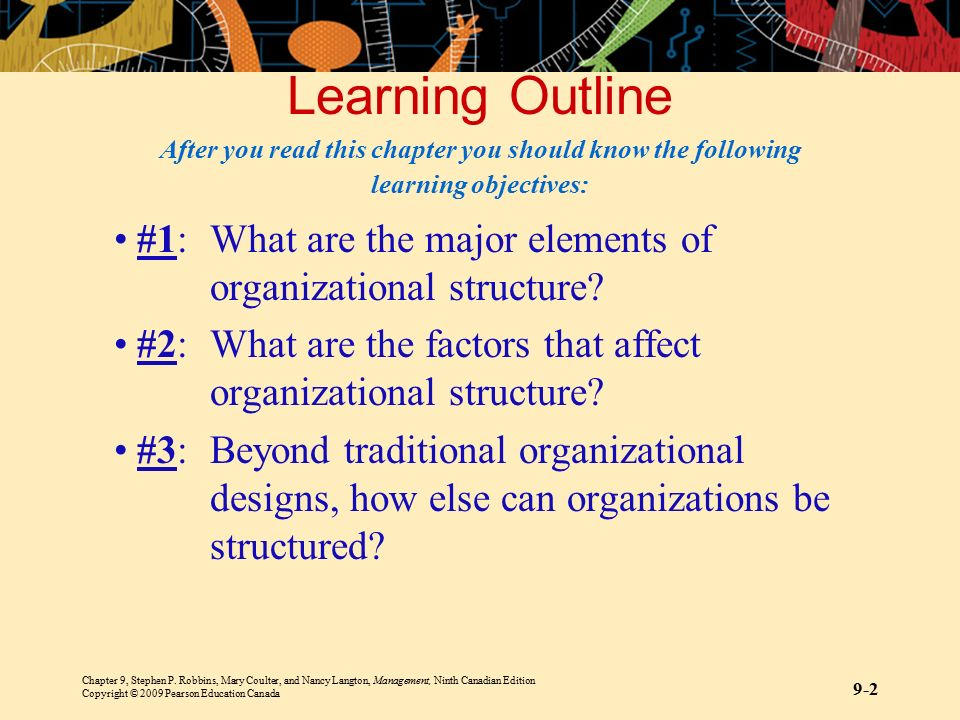 Learning Outline After you read this chapter you should know the following learning objectives: