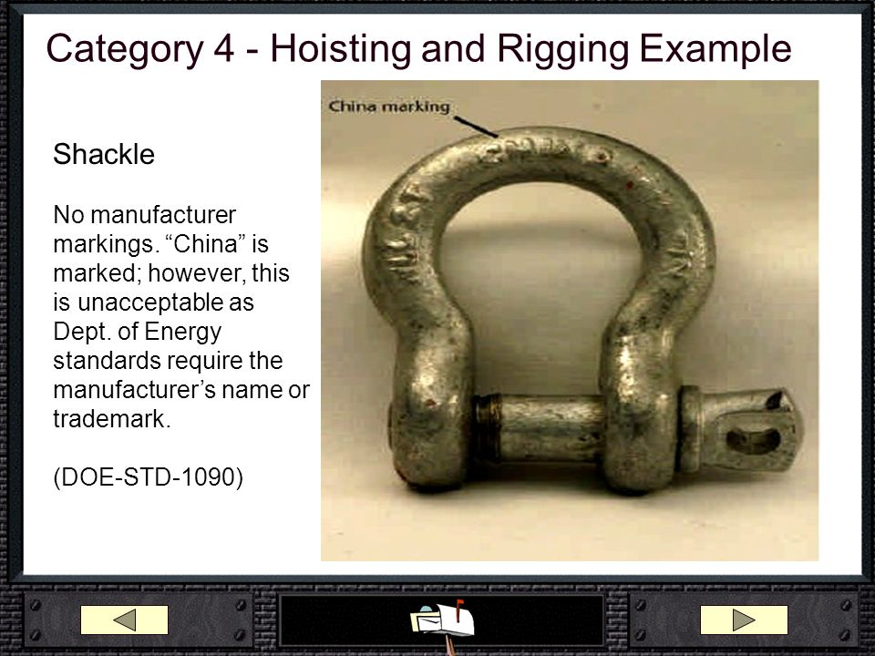 Category 4 - Hoisting and Rigging Example