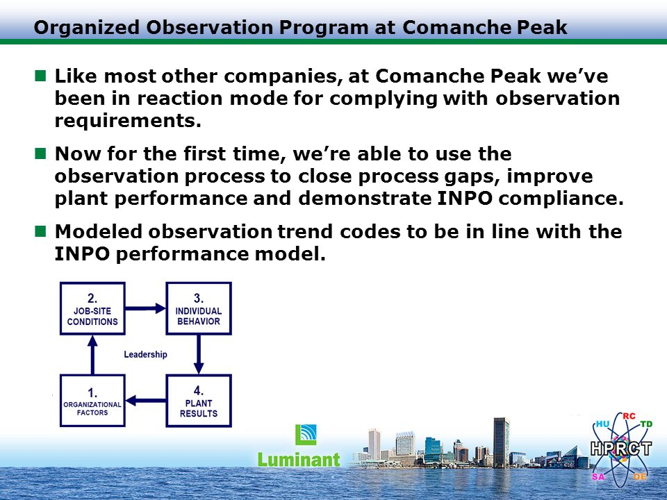 Organized Observation Program at Comanche Peak