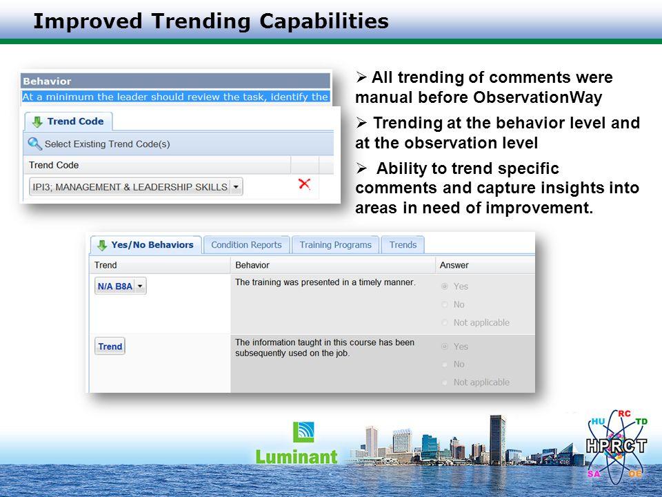 Improved Trending Capabilities