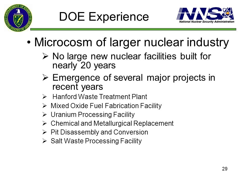 Microcosm of larger nuclear industry
