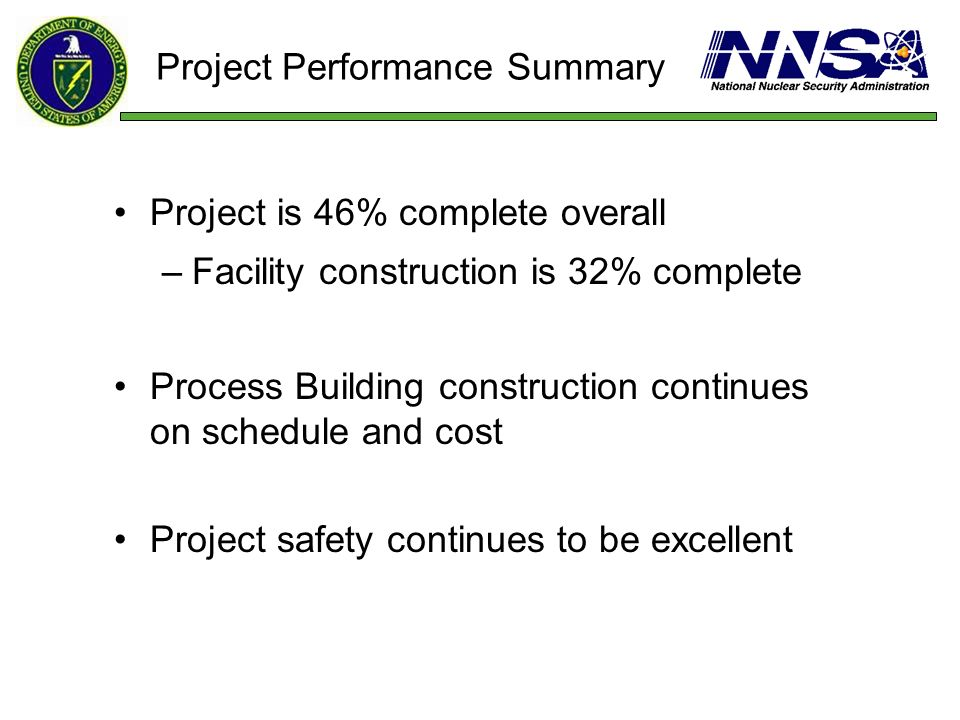 Project Performance Summary