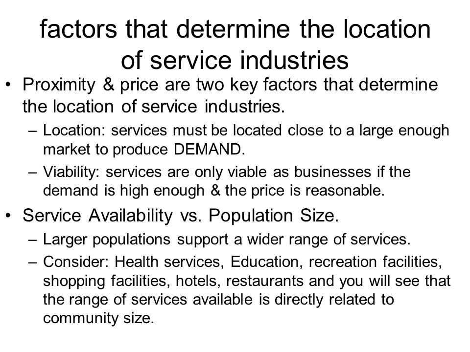 factors that will determine the demand