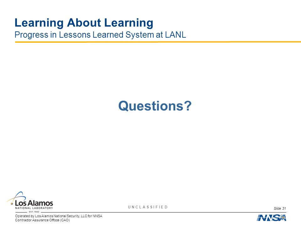 Learning About Learning Progress in Lessons Learned System at LANL