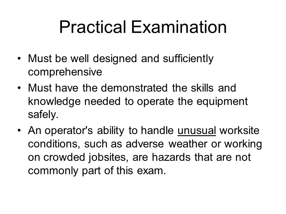 Practical Examination