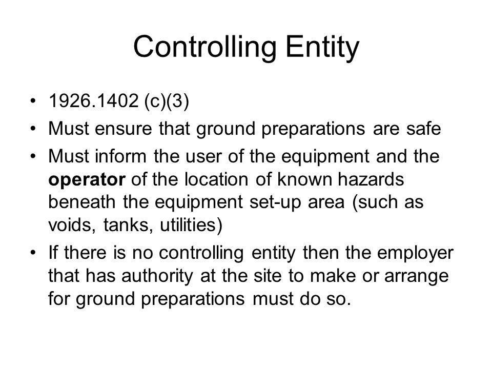 Controlling Entity 1926.1402 (c)(3)
