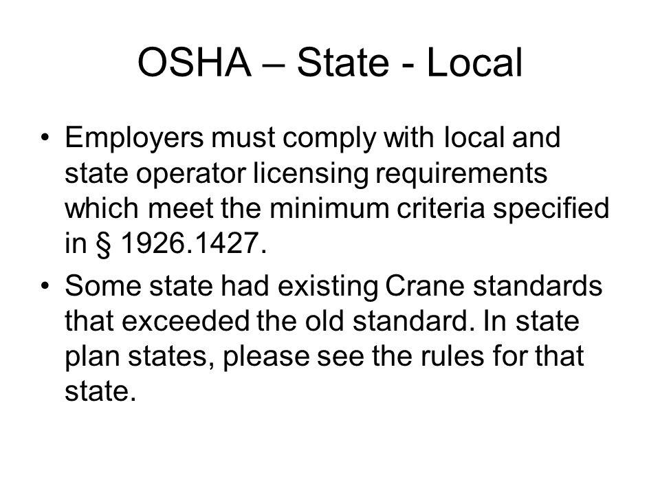 OSHA – State - Local