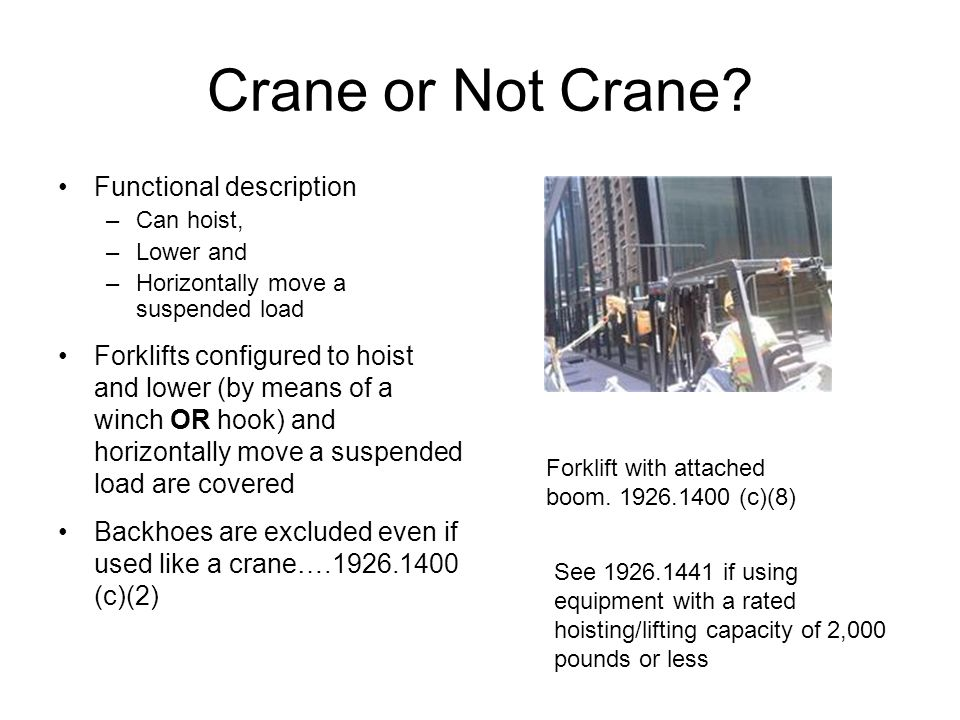 Crane or Not Crane Functional description