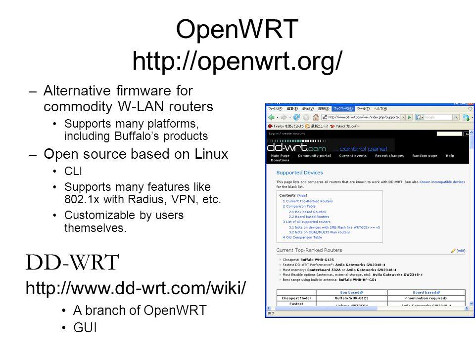 OpenWRT http://openwrt.org/