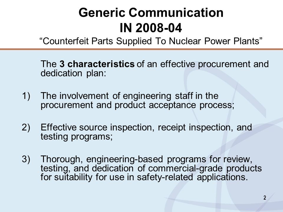 Generic Communication IN 2008-04 Counterfeit Parts Supplied To Nuclear Power Plants