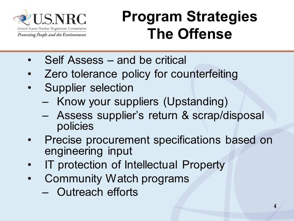 Program Strategies The Offense