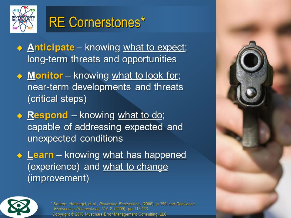 27 March 2017 RE Cornerstones* Anticipate – knowing what to expect; long-term threats and opportunities.