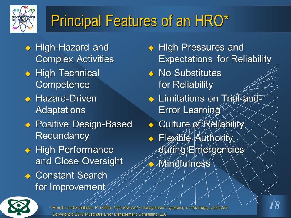 Principal Features of an HRO*