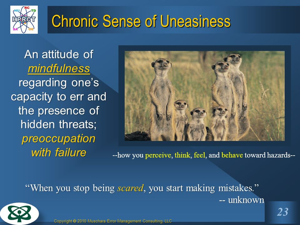 Chronic Sense of Uneasiness