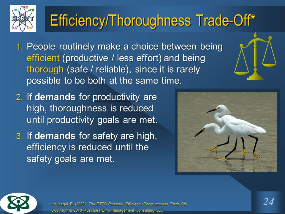 Efficiency/Thoroughness Trade-Off*