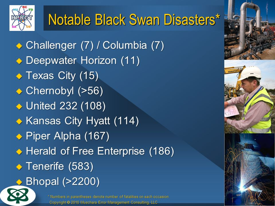 Notable Black Swan Disasters*