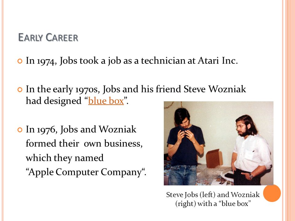 Steve Jobs (left) And Wozniak (right) With A Blue Box