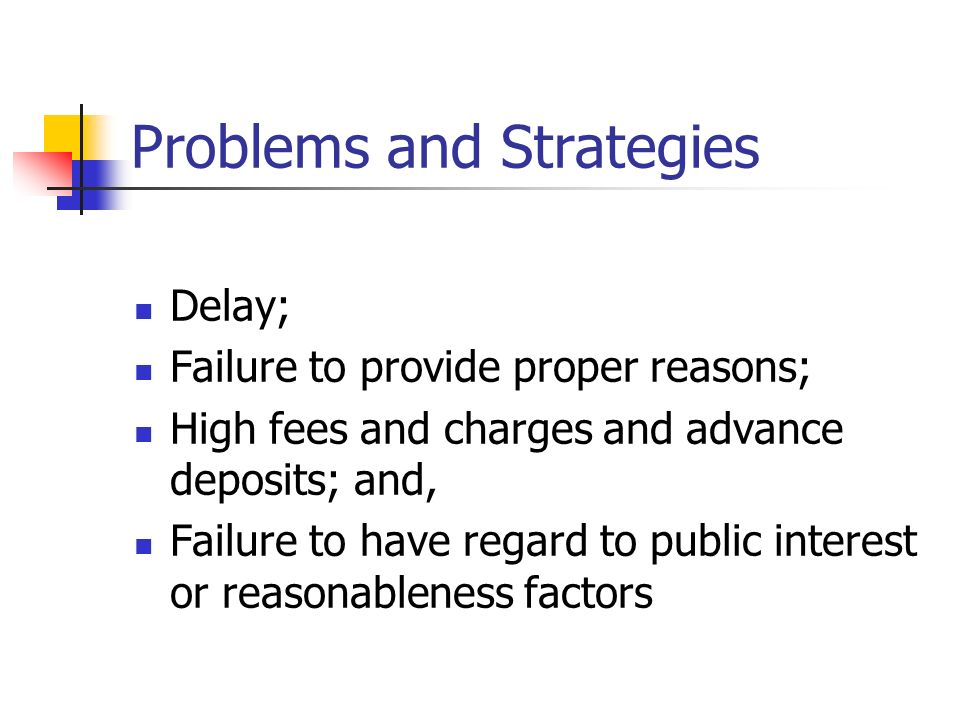 Problems and Strategies