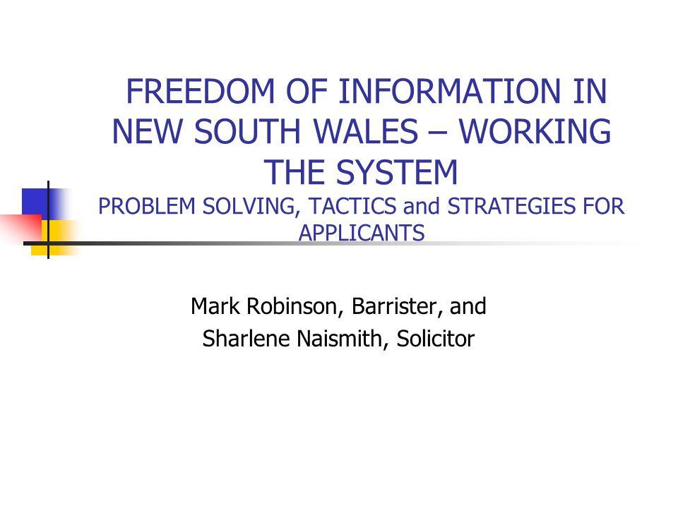 Mark Robinson, Barrister, and Sharlene Naismith, Solicitor