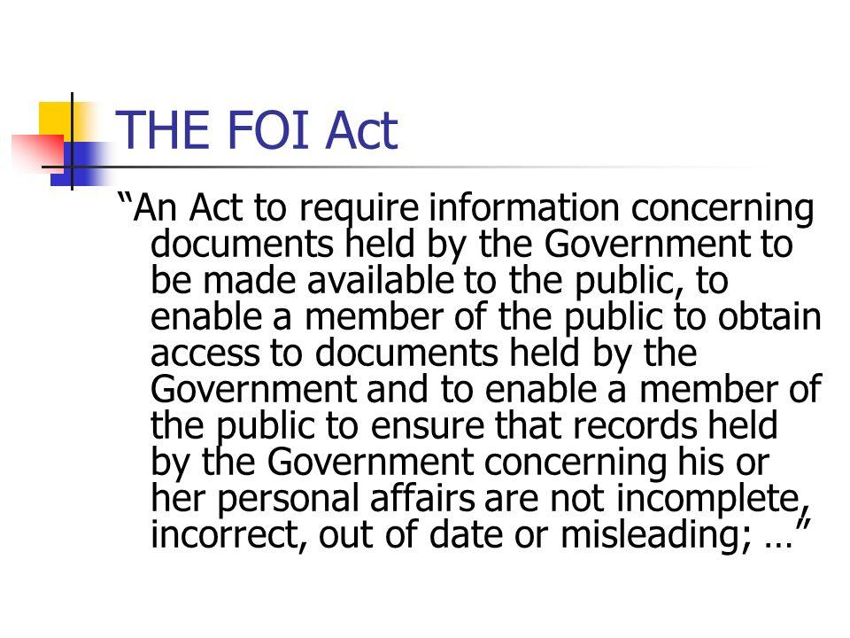 THE FOI Act