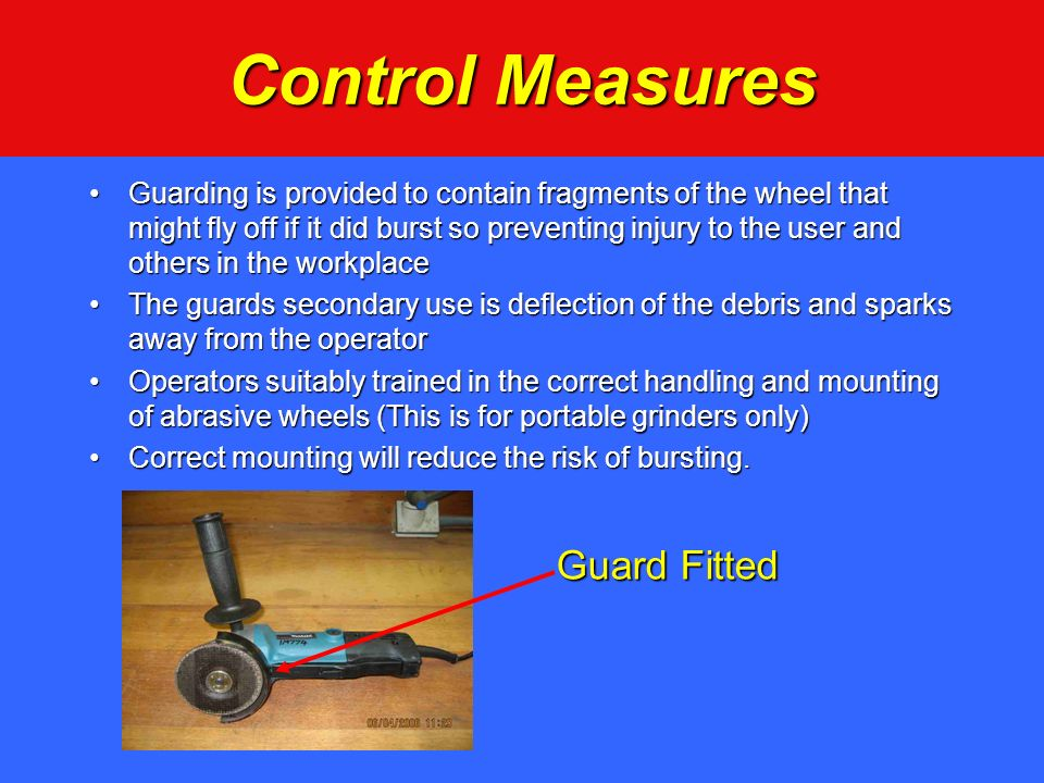 Control Measures Guard Fitted