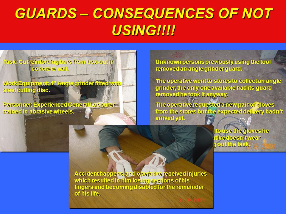 GUARDS – CONSEQUENCES OF NOT USING!!!!