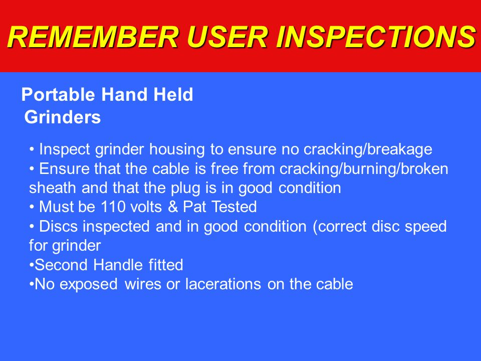 REMEMBER USER INSPECTIONS