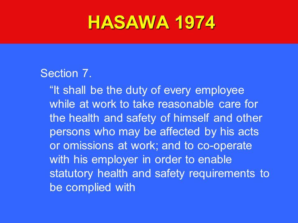 HASAWA 1974 Section 7.