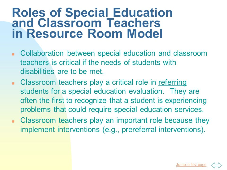 Collaborative Teaching For Special Education ~ Groups of students with special needs ppt download