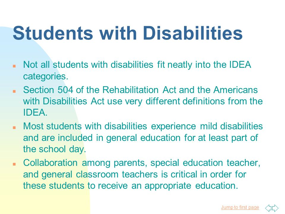 Groups Of Students With Special Needs Ppt Download