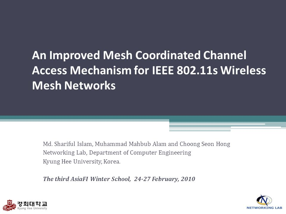 An Improved Mesh Coordinated Channel Access Mechanism for IEEE 802