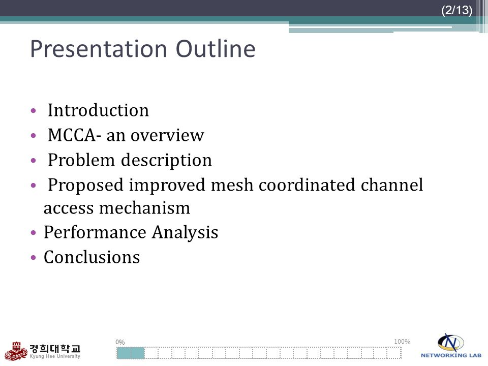 Presentation Outline Introduction MCCA- an overview