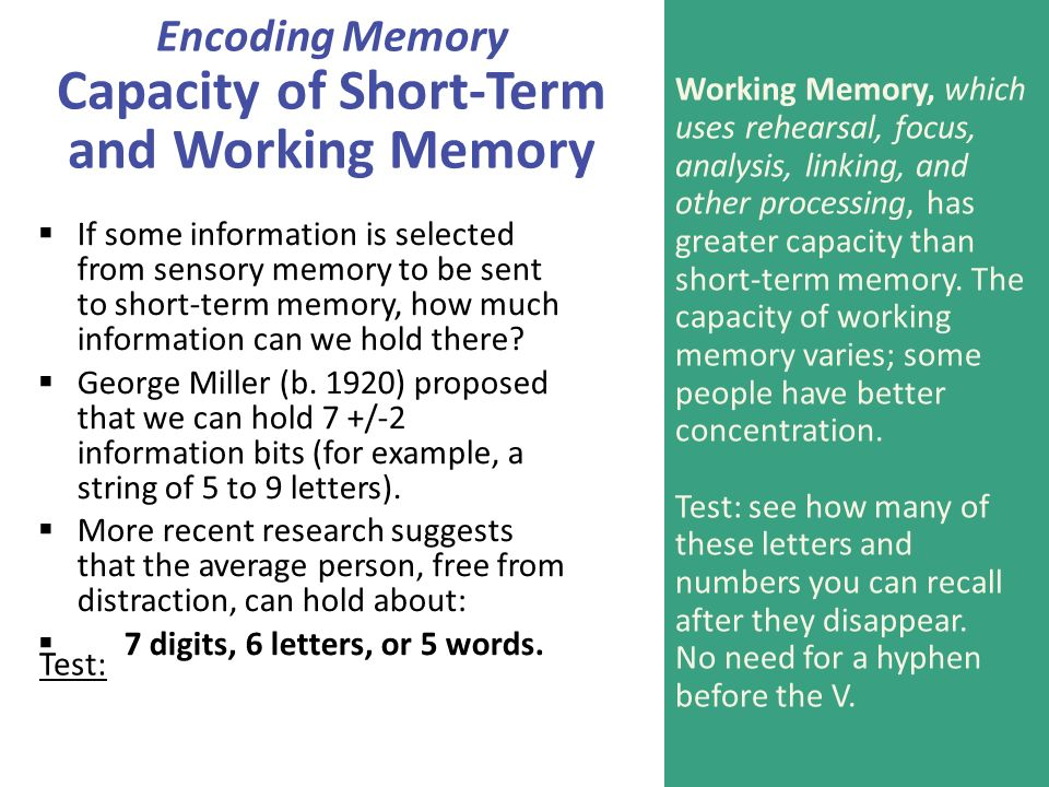 free recall from short term memory Recency-sensitive retrieval processes in long-term  short-term memory  asked to free recall the 20 words in that list.
