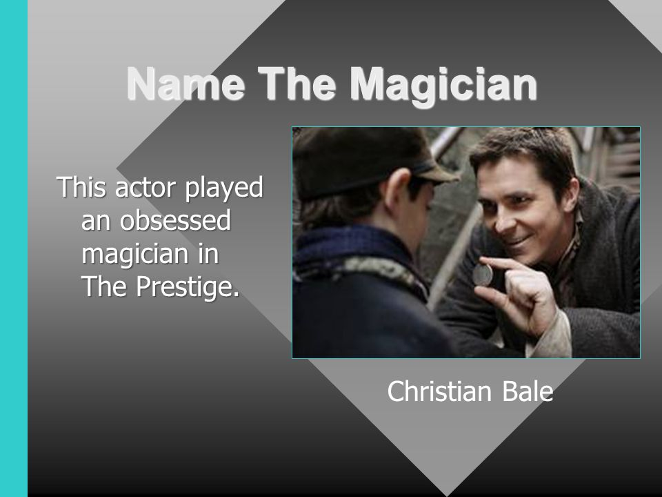 the prestige obsession The prestige is a 2006 british-american mystery thriller film directed by christopher nolan from a screenplay adapted by his brother jonathan from obsession.
