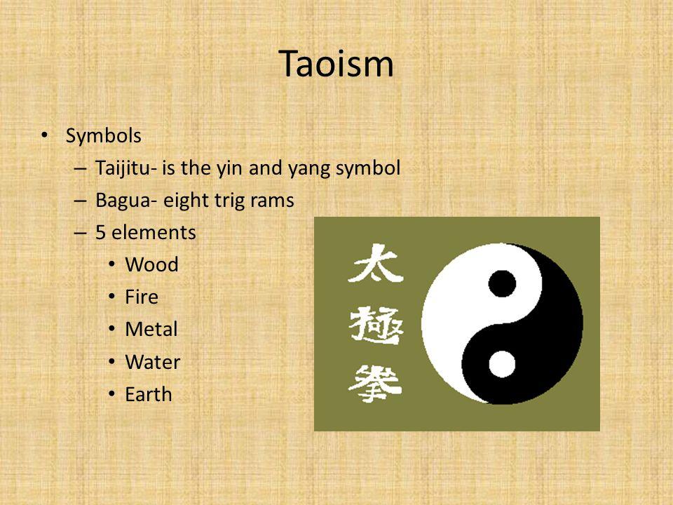 Taoism Symbols Taijitu- is the yin and yang symbol