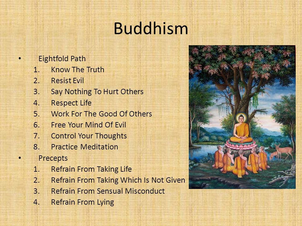 Buddhism Eightfold Path Know The Truth Resist Evil