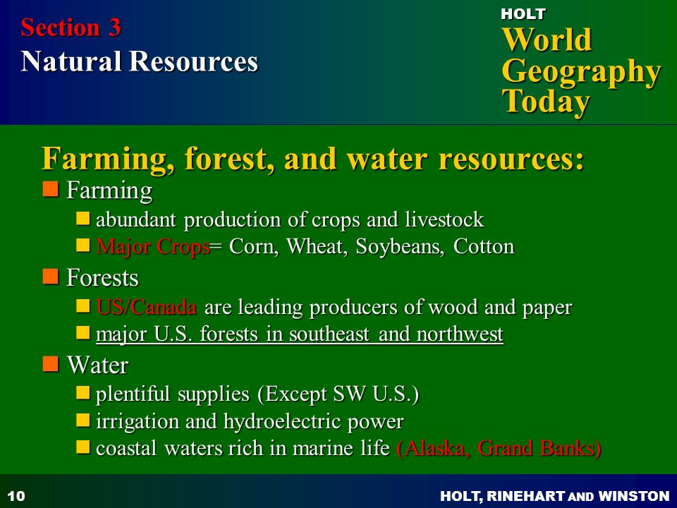 Subarctic Natural Resources Resources