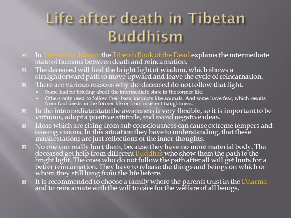 Life after death in Tibetan Buddhism