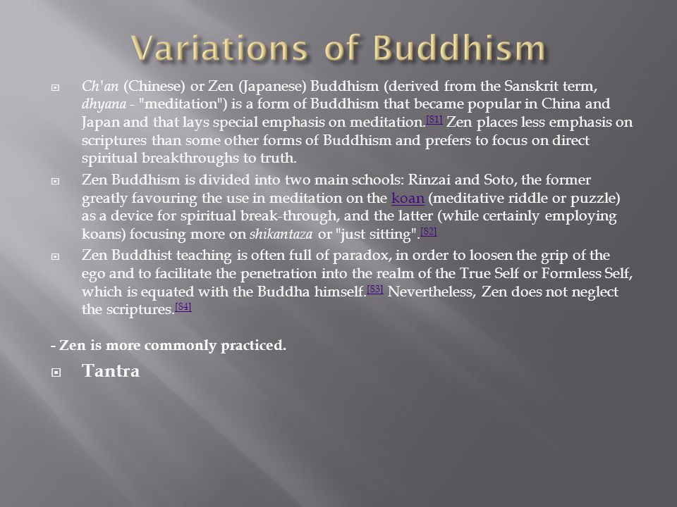 Variations of Buddhism