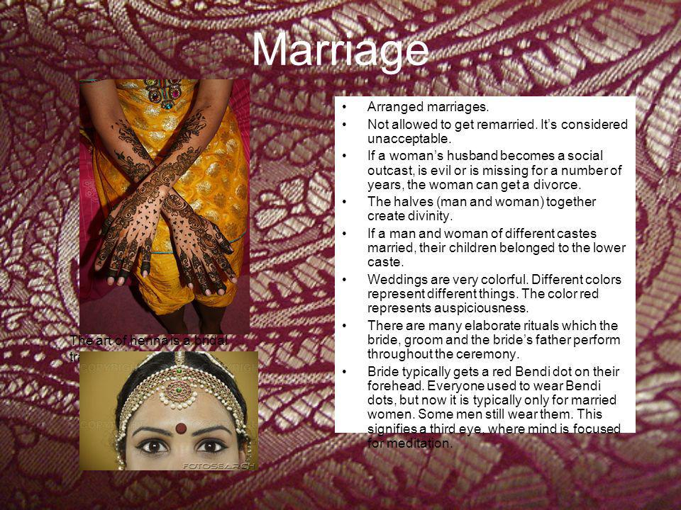 Marriage Arranged marriages.