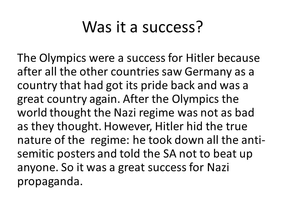 success and failure of the nazi In 1923, hitler and the nazis attempted a putsch at a beer hall in munich this was the munich putsch this was their attempt to overthrow the government.