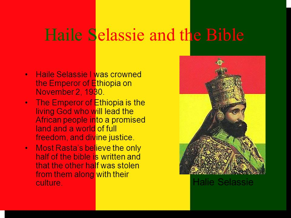 Haile Selassie and the Bible