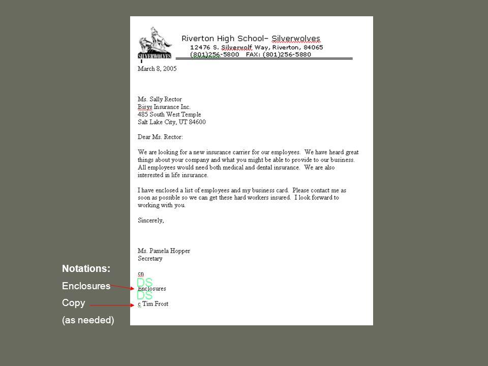 letter format enclosure Picture Ideas References business