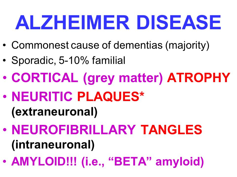 sporadic alzheimer's disease the disease of Sporadic alzheimer's disease sporadic alzheimer's disease accounts for more than 90 per cent of cases most cases occur in people over the age of 65 and the cause is.