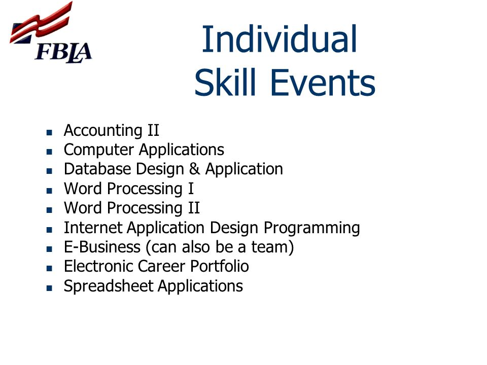 Individual Skill Events