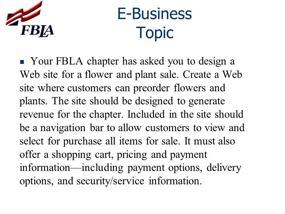 E-Business Topic