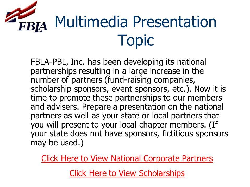 Multimedia Presentation Topic