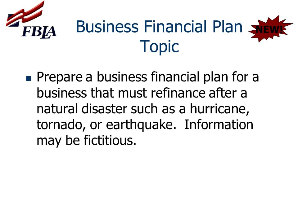Business Financial Plan Topic