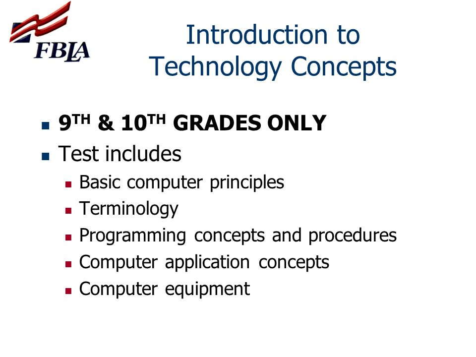 Introduction to Technology Concepts