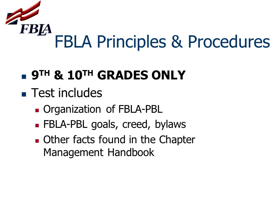 FBLA Principles & Procedures
